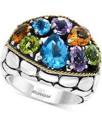 Effy Collection - Balissima By Effy® Multi-gemstone Ring (6-1/8 Ct. T.w.) In Sterling Silver & 18k Gold - Lyst