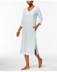 Miss Elaine | Brushed-waffle-knit Nightgown | Lyst