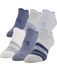 Under Armour 6-pk. Essential No-show Socks - Blue