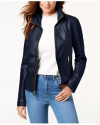 Kenneth Cole - Faux-leather Jacket - Lyst