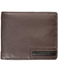 Calvin Klein - Men's Pebble-leather Money Clip Billfold & Keychain Set - Lyst