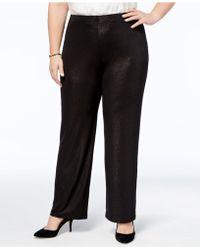 Alfani | Plus Size Metallic Pull-on Pants | Lyst