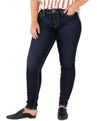 Silver Jeans Co. Plus Size Suki Curvy-fit Skinny Jeans - Blue