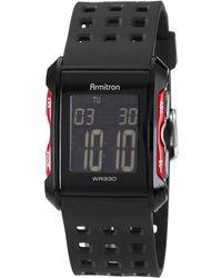 Armitron - Men's Digital Chronograph Black Strap Watch 31mm 40-8177red - Lyst