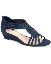 Charter Club Ginifur Wedge Sandals, Created For Macy's - Blue