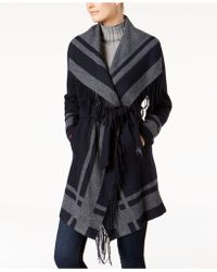 Vince Camuto - Belted Wrap Coat - Lyst