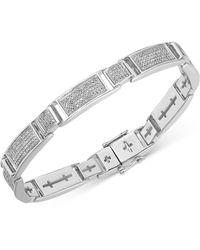 Macy's Diamond Multi-cluster Bracelet (2 Ct. T.w.) In Sterling Silver - White