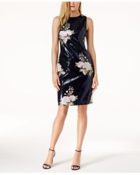 Vince Camuto - Embroidered Sequined Dress - Lyst