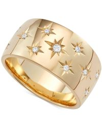 Marchesa - Diamond Star Band (1/6 Ct. T.w.) In 18k White Or Yellow Gold - Lyst