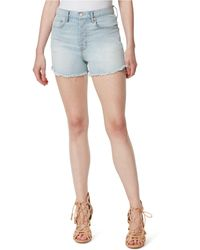 Jessica Simpson Infinite High-waist Slim-fit Jean Shorts - Blue