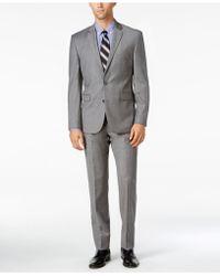 Vince Camuto | Men's Slim-fit Medium Gray Flannel Suit | Lyst