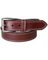 Lejon Springcreek Oil Tanned Harness Leather Casual Work Jean Belt - Brown