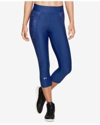 Under Armour - Heatgear® Compression Capri Leggings - Lyst