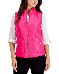 Charter Club Quilted Vest, In Regular & Petite, Created For Macy's - Pink