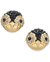 Kate Spade - Gold-tone Pavé Penguin Stud Earrings - Lyst
