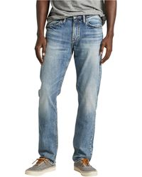Silver Jeans Co. Machray Classic Straight Fit Jean - Blue