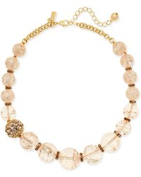 Kate Spade Gold-tone Stone Bauble Collar Necklace - Metallic