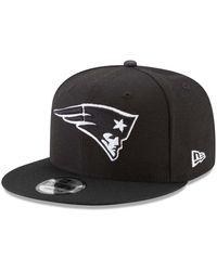 KTZ Black New England Patriots B-dub 9fifty Adjustable Hat