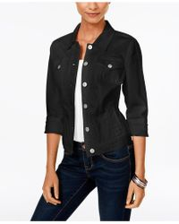 Style & Co. - Denim Jacket, Mosaic Wash - Lyst