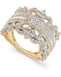 Macy's Diamond Vintage Crown Ring In 14k Gold (3/4 Ct. T.w.) - Metallic