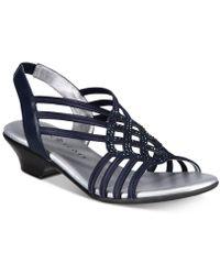92a8b046a Lyst - Jessica Simpson Rel Slingback Block-heel Platform Sandals