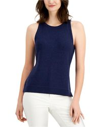 Charter Club Sleeveless Sweater, Created For Macy's - Blue