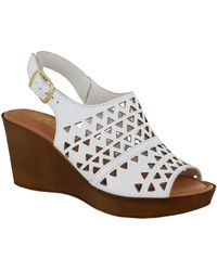 Bella Vita Wedge Sandals - White