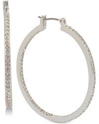 Kenneth Cole - Pavé Hoop Earrings - Lyst