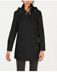 Jones New York - Jones New York Petite Hooded Raincoat - Lyst