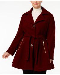 INC International Concepts - Plus Size Skirted Walker Coat - Lyst