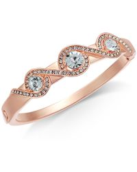 Charter Club - Rose Gold-tone Pavé Crystal-accented Bracelet - Lyst
