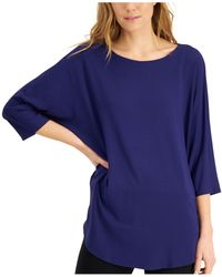 Eileen Fisher Boat-neck Tunic - Blue