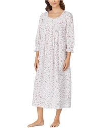Eileen West - Ruffle-trimmed Cotton Nightgown - Lyst