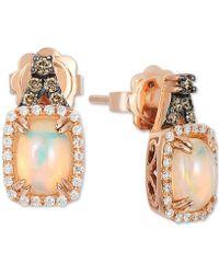 Le Vian - ® Neopolitan Opal (3/4 Ct. T.w.), Vanilla & Chocolate Diamond (1/4 Ct. T.w.) Stud Earrings In 14k Rose Gold - Lyst