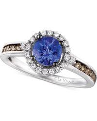 Le Vian - Tanzanite (5/8 Ct. T.w.) And Diamond (3/8 Ct. T.w.) Ring In 14k White Gold - Lyst