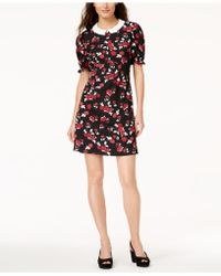 Maison Jules - Printed Peter-pan-collar Dress, Created For Macy's - Lyst