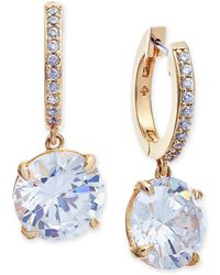 Kate Spade - Crystal And Pavé Drop Earrings - Lyst