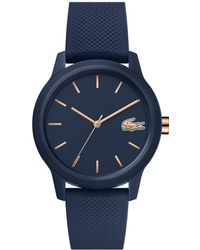 Lacoste Ladies .12.12 Watch With Navy Silicone Petit Piqué Strap - Blue