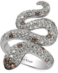 Le Vian Chocolatier Diamond Snake Ring (1-7/8 Ct. T.w.) In 14k White Gold - Metallic