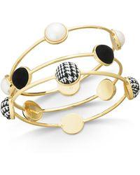 INC International Concepts - I.n.c. Gold-tone 3-pc. Set Imitation Pearl & Fabric Bangle Bracelets, Created For Macy's - Lyst
