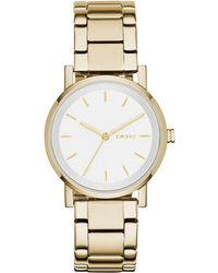 DKNY - Soho Gold-tone Stainless Steel Bracelet Watch 34mm, Created For Macy's - Lyst