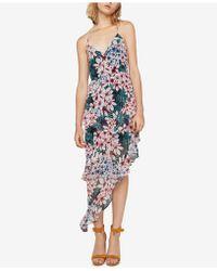 BCBGeneration - Floral-print Tiered Asymmetrical Maxi Dress - Lyst