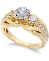 Macy's - Diamond Engagement Ring (1 Ct. T.w.) In 14k Gold - Lyst