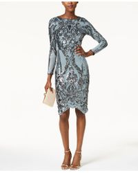 Betsy & Adam - Sequined Bodycon Dress - Lyst