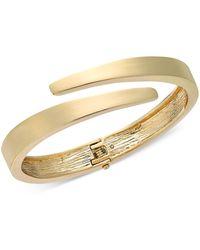 Alfani Gold-tone Bypass Bangle Bracelet, Created For Macy's - Metallic
