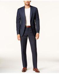 DKNY - Men's Slim-fit Blue Birdseye Suit - Lyst