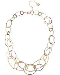 BCBGeneration Two-tone Link Statement Necklace - Metallic