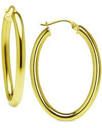 Giani Bernini | Polished Hoop Earrings In Sterling Silver, Created For Macy's | Lyst