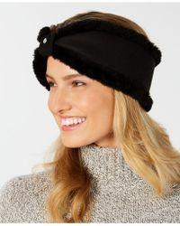 faa77baf89f35 Lyst - UGG Shearling Fur Heritage Flap Hat in Black