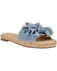 Nine West Bow Slide Sandals - Blue